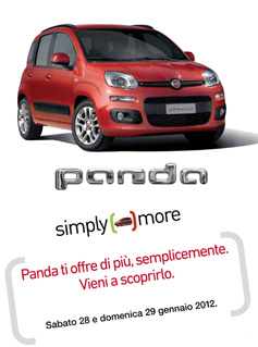 Nuova Fiat Panda 2012 Porte Aperte Torino Genova Alba e Bra