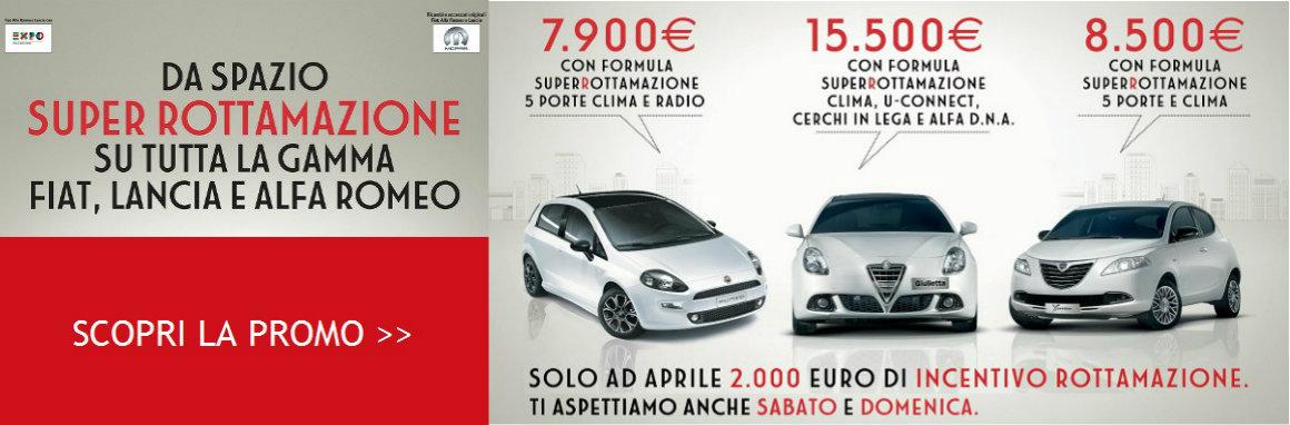 Super Rottamazione su tutta la gamma Fiat, Alfa e Lancia
