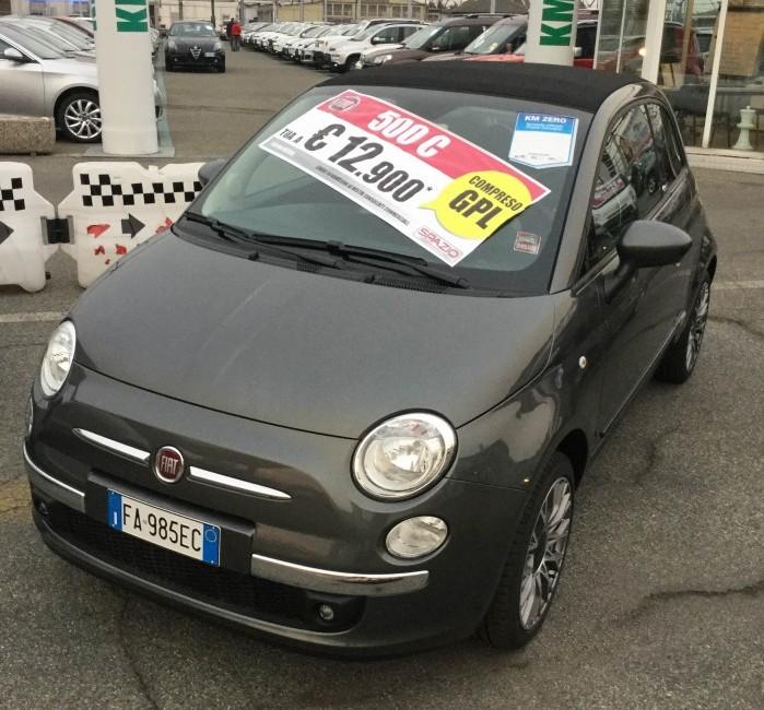 Grandissima offerta Spazio: Fiat 500 C con GPL a soli € 12.900!