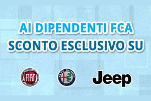 Extra sconto per i dipendenti FCA su gamma 500, Tipo, Alfa e Jeep da Spazio a Torino