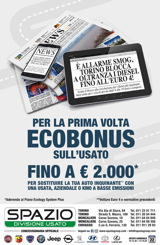 Solo Spazio a Torino ti offre 2.000 € di ECOBONUS su Auto Usate, KM 0 e Aziendali