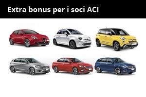 Extra sconti per i soci ACI su Giulietta, gamma Fiat 500 e gamma Tipo