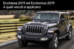 Ecotassa 2019 ed Ecobonus 2019: come funzionano e quali veicoli riguardano