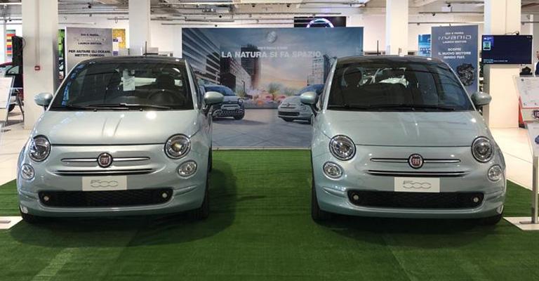 """La nuova motorizzazione FIAT """"mild hybrid"""" è qui, da Spazio. ora! Vieni a provarla su Fiat 500 da giovedì 13 a domenica 16 febbraio 2020. Ti aspettiamo!"""
