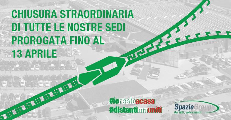 Stop straordinario a tutti i nostri Saloni dal 12 marzo al 13 aprile 2020. #Iorestoacasa #distantimavicini
