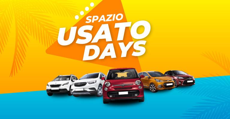 Spazio Usato Days, sconti fino a 3.500€ su uno stock selezionato di auto aziendali, km0 e usate