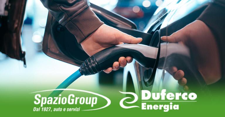 Spazio e Duferco Energia ti regalano due anni di ricariche elettriche!